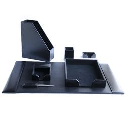black office desk accessories set by zale yardley