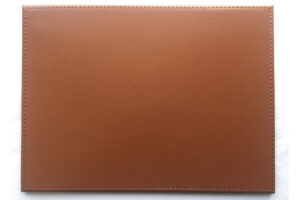 Elegant real leather mouse mat