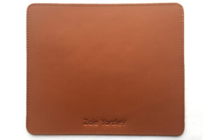 Executive leather mouse pad or mat.