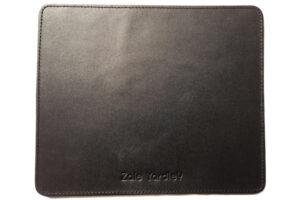 Black real leather mouse mat by Zale Yardley Ltd